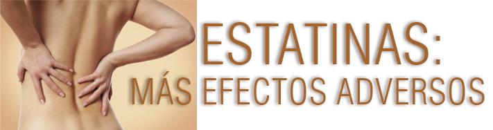 Estatinas: Más efectos adversos