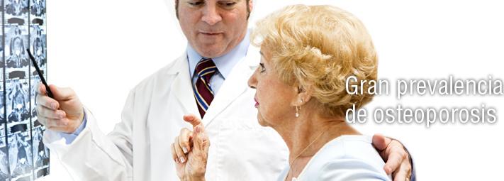 Gran prevalencia de la osteoporosis