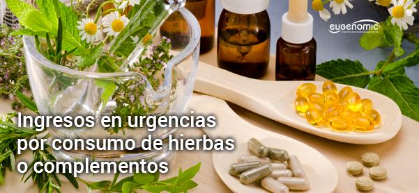 Ingresos en urgencias por consumo de hierbas o complementos