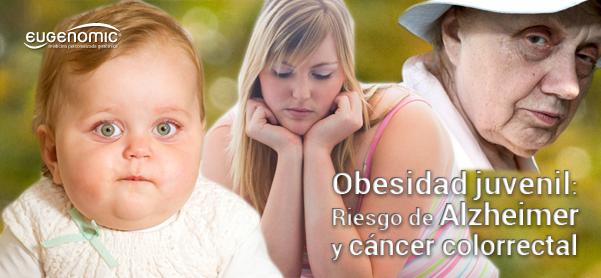 Obesidad juvenil y riesgo de Alzheimer y cáncer colorrectal