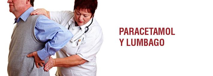 Paracetamol (acetaminofeno) y lumbago
