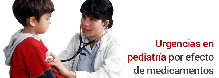 Urgencias en pediatría por efecto de medicamentos