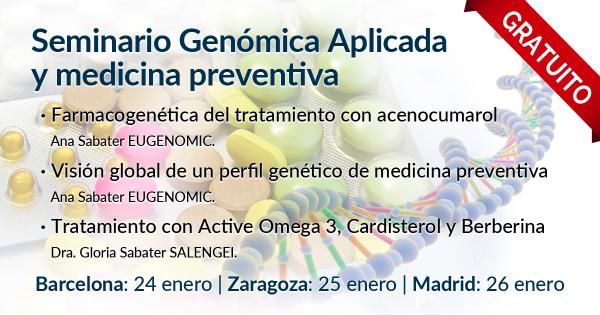 Seminario Gratuito de Genómica Aplicada y Medicina Preventiva