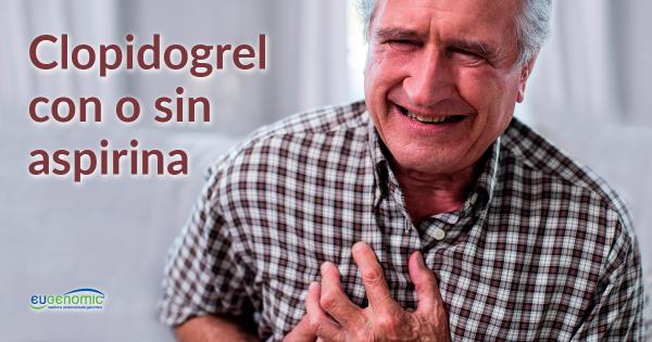 Clopidogrel con o sin aspirina y polimorfismos genéticos