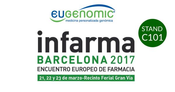 Eugenomic estará ubicado en el stand C101 de Infarma Barcelona 2017.