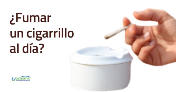 ¿Fumar un cigarrillo al día?